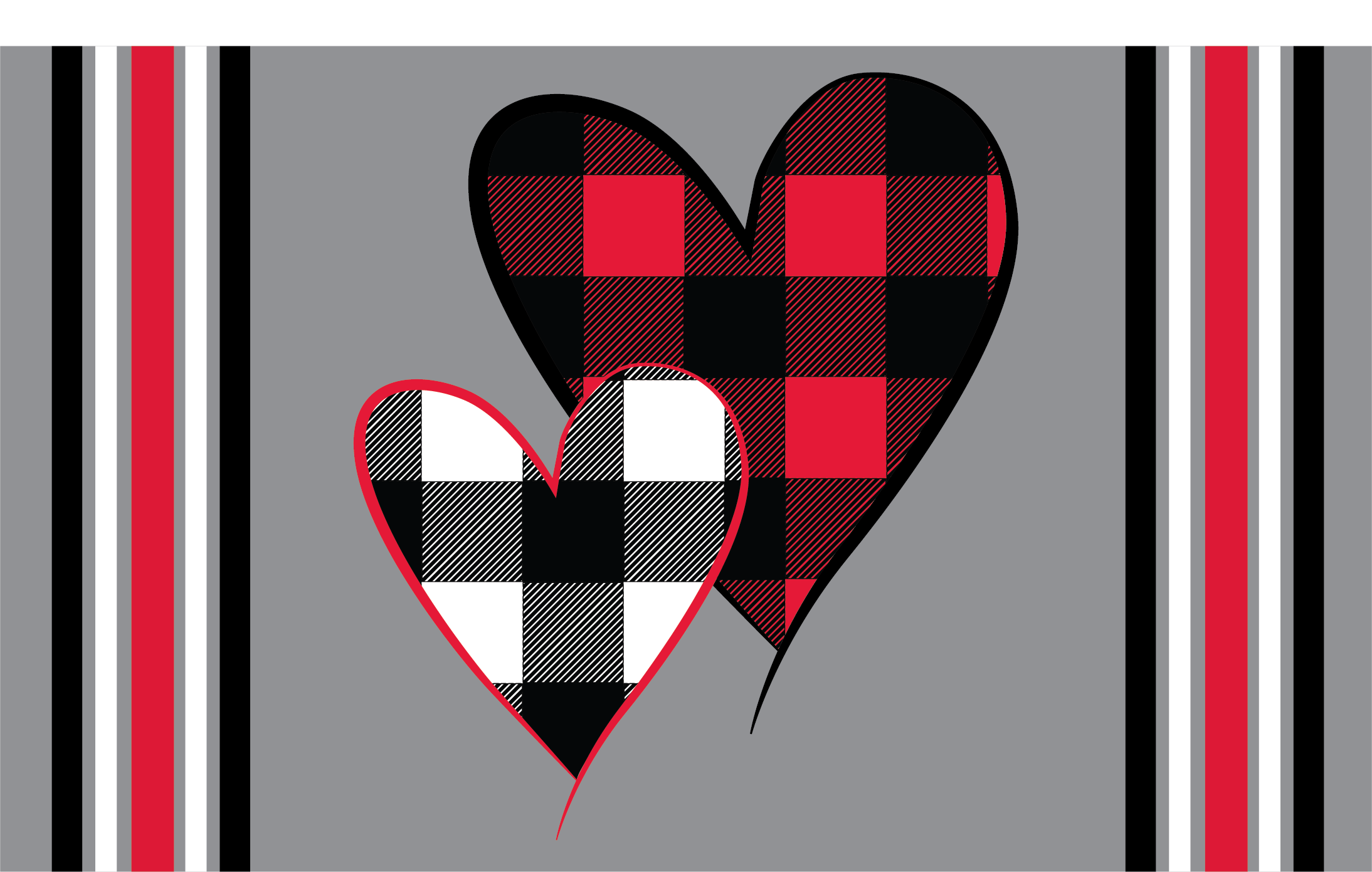 Valentine Plaid Hearts
