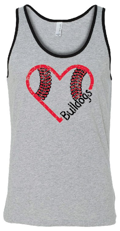 Bulldogs Baseball Unisex Tank in youth & adult