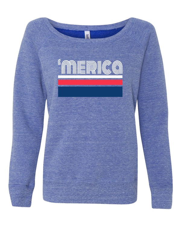 'merica Fleece Wideneck Sweatshirt