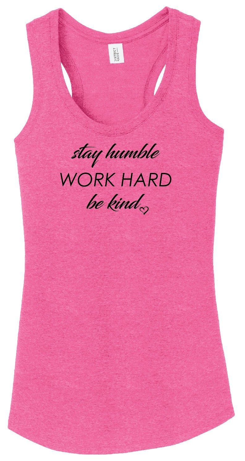 Stay Humble Ladies Racerback Tank
