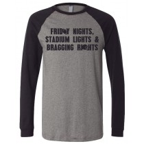 Friday Nights Stadium Lights Unisex Long Sleeve Jersey Baseball Tee