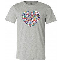Heart Books Unisex Short Sleeve Tee