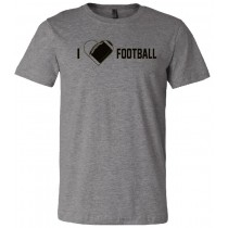 I {heart} Football Unisex Short Sleeve Tee