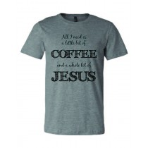 Little Coffee Lotta Jesus Unisex Short Sleeve