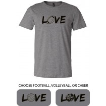 LOVE {sports) Unisex Short Sleeve Tee