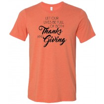 Thanks and Giving Unisex Short Sleeve Tee