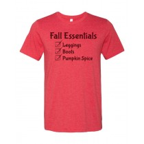 Fall Essentials Unisex Short Sleeve Tee