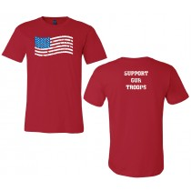 Support Our Troops Unisex Short Sleeve Jersey RED Tee