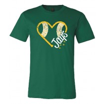 Gehlen Baseball Heart Unisex Short Sleeve Tee in youth & adult