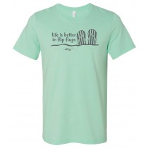 Life is Better In Flip Flops Unisex Short Sleeve Tee
