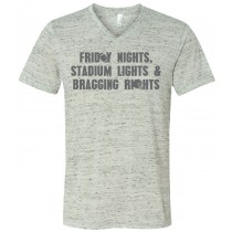 Friday Nights Stadium Lights Unisex V-Neck Tee