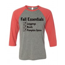 Fall Essentials 3/4 Baseball Tee