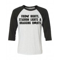 Friday Nights Stadium Lights 3/4 Tee