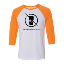 Pumpkin Spice Rebel 3/4 Baseball Tee