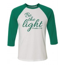 Be The Light 3/4 Baseball Tee