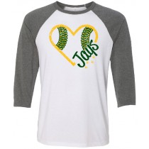 Gehlen Baseball Heart 3/4 Tee in several colors