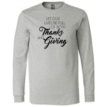 Thanks and Giving Long Sleeve Jersey Tee