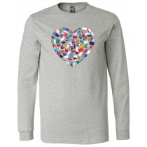 Heart Books Long Sleeve Jersey Tee