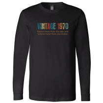 Vintage 1970 Long Sleeve Jersey Tee