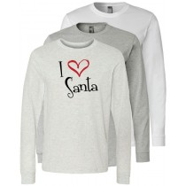 I {Heart} Santa Long Sleeve Jersey Tee