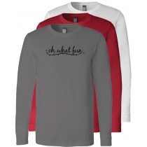 Oh What Fun Long Sleeve Jersey Tee