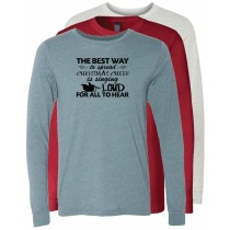 Christmas Cheer Long Sleeve Jersey Tee