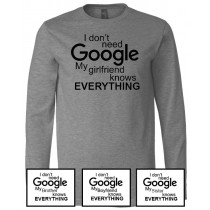 Google Long Sleeve Jersey Tee