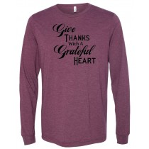 Give Thanks Long Sleeve Jersey Tee