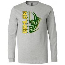 Gehlen Football Helmet Long Sleeve Jersey Tee