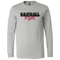 Baseball Mom Long Sleeve Jersey Tee