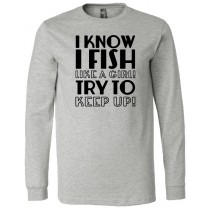 Fish Like A Girl Long Sleeve Jersey Tee