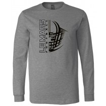LeMars Football Helmet Long Sleeve Jersey Tee