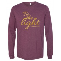 Be The Light Gold Foil Long Sleeve Jersey Tee