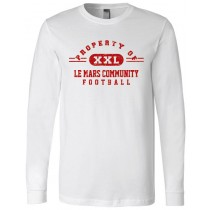 Property of LeMars Football  Long Sleeve Jersey Tee