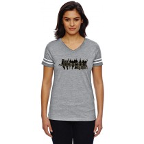 Bleacher Club Women's Football Jersey Tee