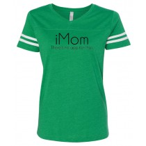 iMom: There's No App For That. Women's Football Jersey Tee