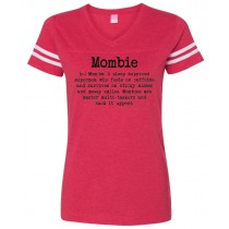 Mombie Women's Football Jersey Tee