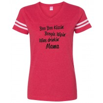 Boo Boo Kissin' Mama... Women's Football Jersey Tee