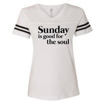 Sunday Is Good For The Soul Women's Football Jersey Tee