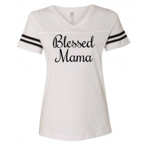 Blessed Mama. Women's Football Jersey Tee