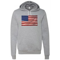 American Flag Unisex Hooded Pullover