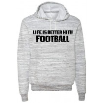 Better With Football Ringspun Hooded Sweatshirt in Adult