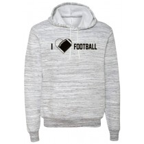 I {heart} Football Ringspun Hooded Sweatshirt in Adult