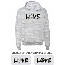 LOVE {Sports}  Ringspun Hooded Sweatshirt in Adult