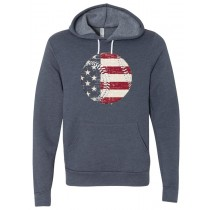 Flag In Baseball Unisex Hooded Pullover