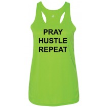 Pray Hustle Repeat Women's Racerback Tank Top