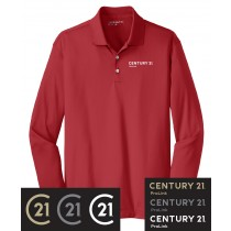 Century 21 Nike Golf Long Sleeve Dri-Fit Stretch Tech Polo in Adult & Talls