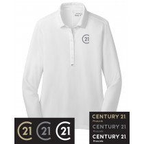 Century 21 Nike Golf Ladies Long Sleeve Dri-Fit Stretch Tech Polo