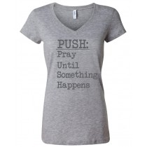 PUSH Women's Jersey V-Neck Tee