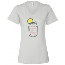 Raised On Sweet Tea And Sunshine Women's Relaxed V-Neck Tee